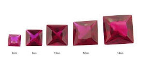 Rubi Quadrado Carre Natural Pombo 0 150 Cts 2,5 Mm 05 Pedras