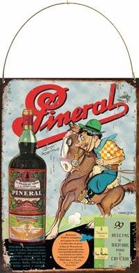 Cartel Chapa Publicidad Antigua 1936 Aperitivo Pineral L558