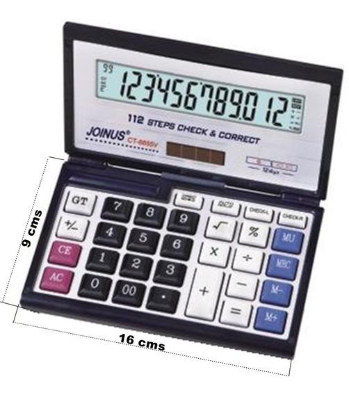 Máquina Calcular 12 Dígitos Display Escritório Estojo Viagem