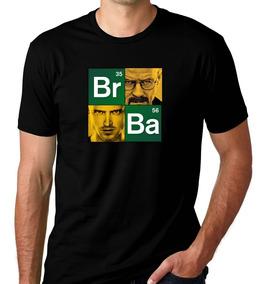 Camiseta Preta Breaking Bad Série Heisenberg White Break 3