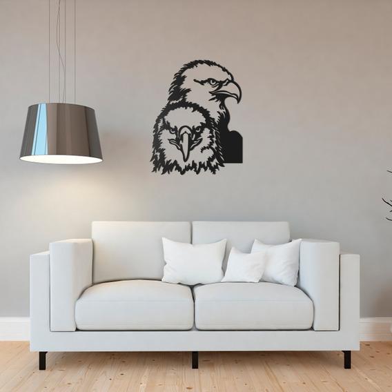 Quadro Decorativo Parede Animal Conjunto Águia 90cm