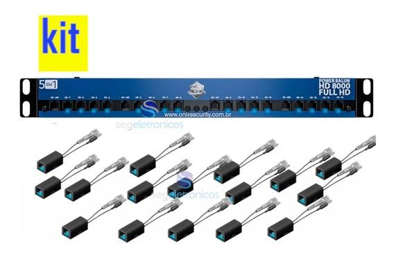 Power Balun Hd 8000 Rack 19 16 Canais Onix Security Tf