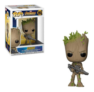 Funko Pop Marvel Avengers Infinity War Teen Groot With Gu...