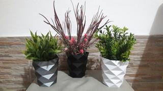 Plantas Y Flores Artificiales En Macetitas