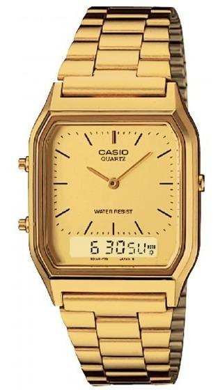 Relógio Casio Aq-230ga-9bmq Padrão Clássico Retrô - Refinado