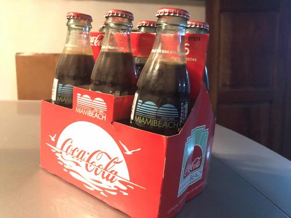 Coca Cola Cajón 6 Botellas Centenario De Miami