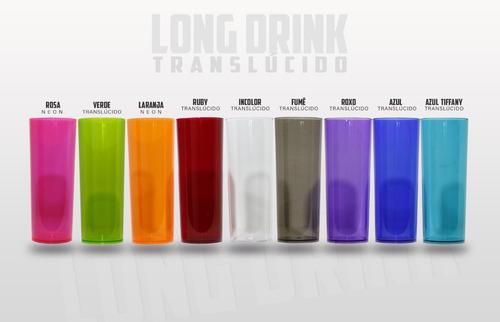 Imagem 1 de 3 de Copos Personalizados Long Drink 100 Unidades