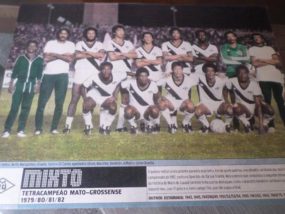 Poster Mixto Tetra Campeão Mato Grosso 1982 Placar 21 X 27cm