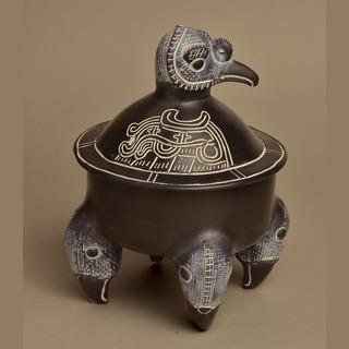 Vasija Con Tapa De Zopilote Cultura Maya