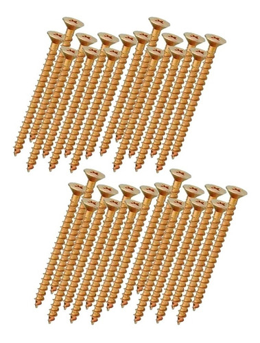 Parafuso Chipboard Phillips P/ Madeira 3,5x40 Caixa 500 Pçs