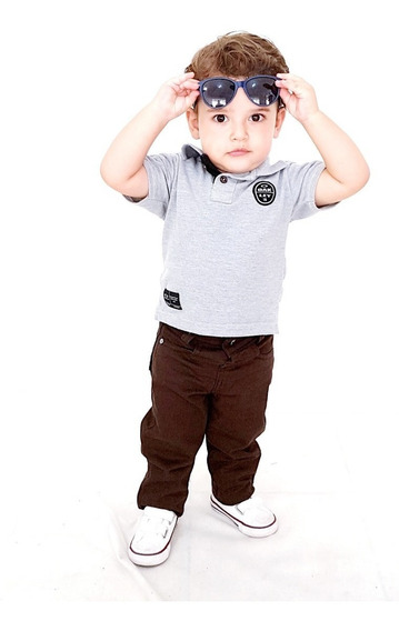 Kit 2 Calça Infantil Masculina De 1 A 10 Anos