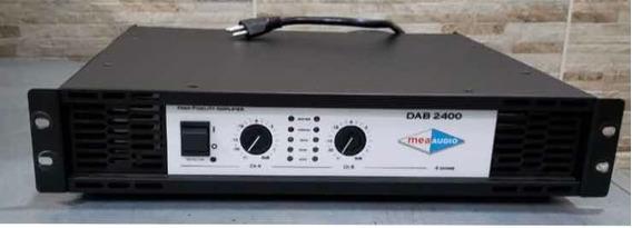 Amplificador Potência Mea Dab 2400 Rms Nao Machine E Studior