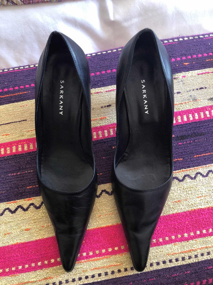 Zapatos Sarkany Stilettos Negros, Cuero 40