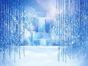 Fundo Fotográfico Tecido Sublimado Cascata Frozen 2,20x1,50m