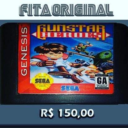 Gunstar Heroes Original Mega Drive Sega Genesis, Não Repro