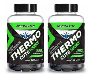 Thermo Cuts Black 120 Tabletes - Neo Nutri - 2 Unidades