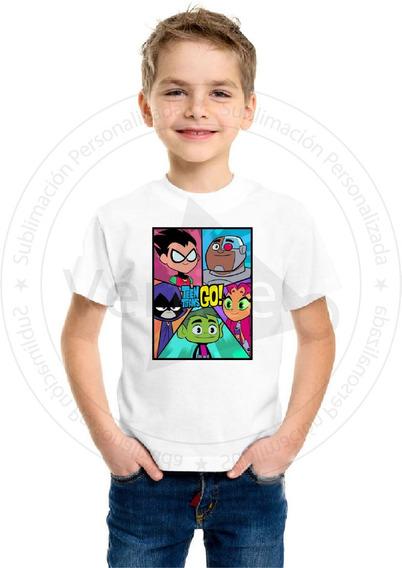 Remera Niño Jovenes Titanes Teen Titans Go Varios Modelos