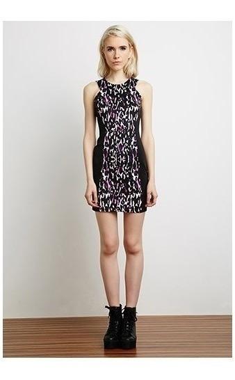 Vestido Leopardo Forever 21 Nuevo Con Etiqueta Importado Usa