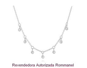 Gargantilha Rommanel Rhodium Zircônias 130415