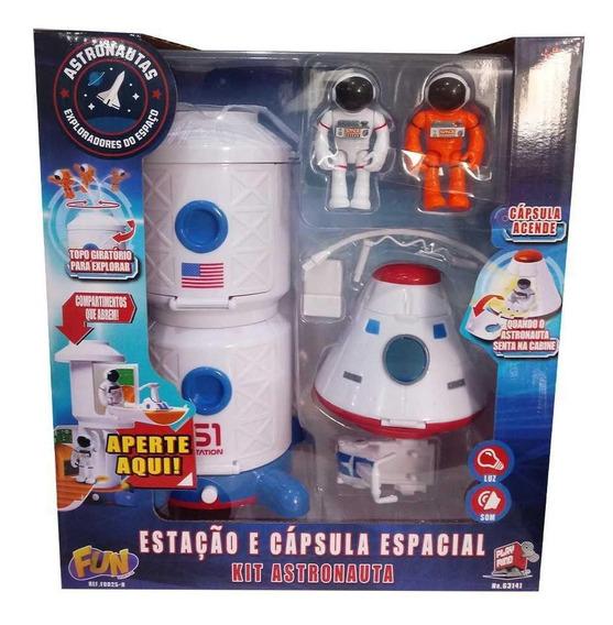 Kit Astronautas - Estação E Cápsula Espacial F00258 Fun