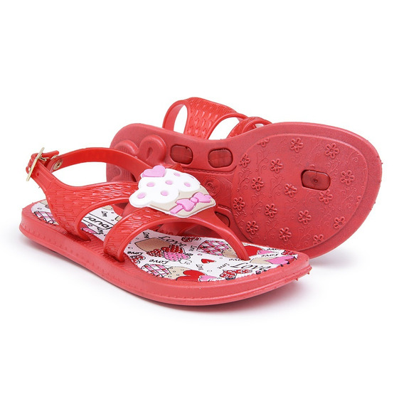 Chinelo Infantil Bebê Feminino Sandália Cupcake Cores 4305