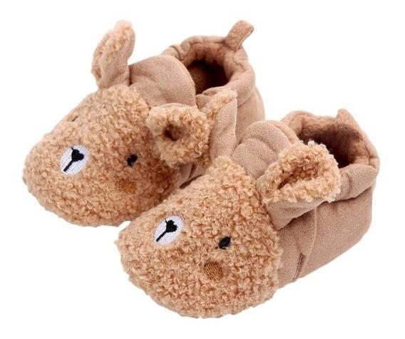 Zapatos Pantuflas Bebé Invierno Niño Niña Ovejita Rosa Beige