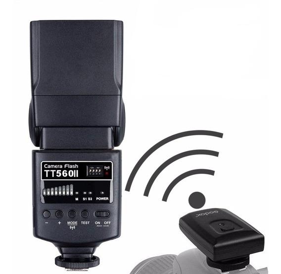 Flash Godox Tt560 Ii Rádio Flash Canon/nikon/sony Garantia