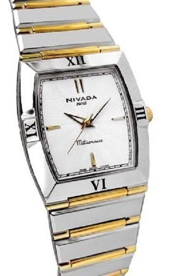 Reloj Nivada Swiss Millionaire Ng2990lbicbi Plata/dorad Dama