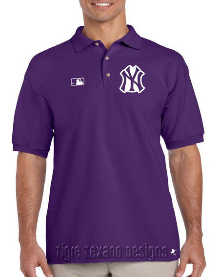 Playera Polo Yankees Nueva York Mod. 02 Tigre Texano Designs