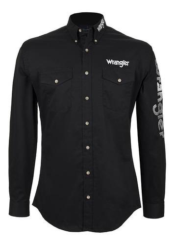Camisa Vaquera Wrangler Hombre Manga Larga L25