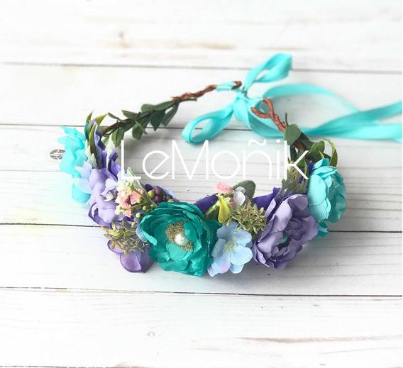 Corona De Flores Estilo Sirenita Mermaid Crown