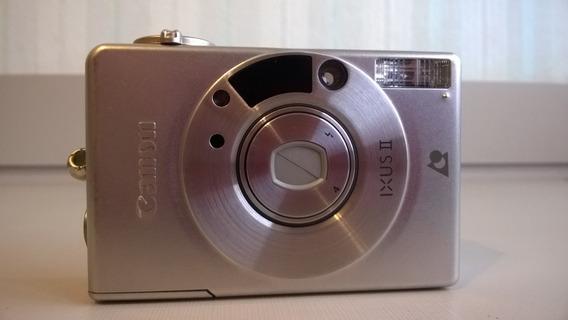 Câmera Vintage Canon Ixus Ii Rara No Estado Em Inox