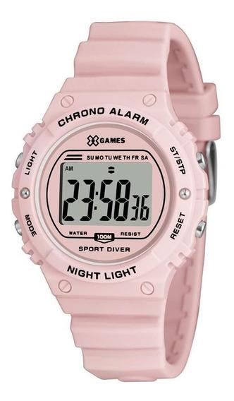 Relógio Feminino Digital Esportivo Rosa X-games Xfppd056
