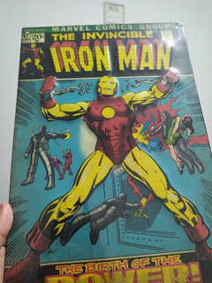 Lamina Decorativa Comic Iron Man Marvel