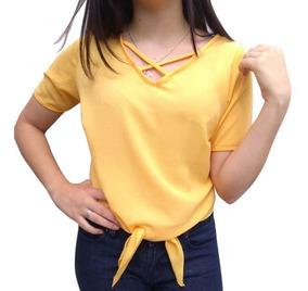 89cffa1adbfc08 Blusas Femininas Amarelo com o Melhores Preços no Mercado Livre Brasil
