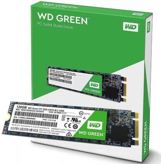 Hd Ssd M.2 M2 Sata Wd Green 120gb Lacrado !