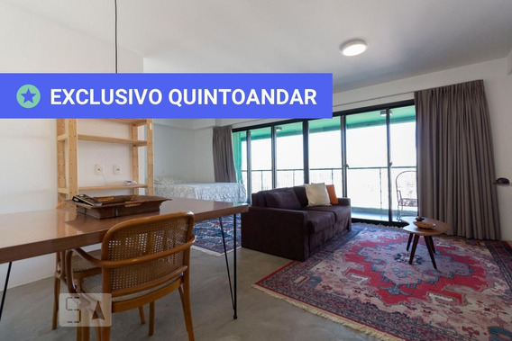 Studio No 21º Andar Mobiliado Com 1 Dormitório E 1 Garagem - Id: 892956568 - 256568