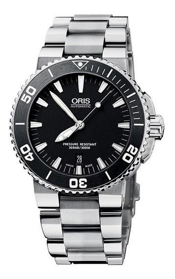 Relógio Oris Aquis 73376534154 Automatico 43mm Black Dial