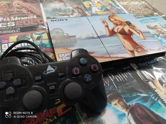 Playstation 2 Mais 10 Jogos Mais 1 Controle