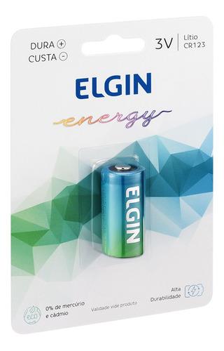 Imagem 1 de 6 de Bateria Pilha Cr123 Elgin 3v Flash Foto Sensor Infravermelho