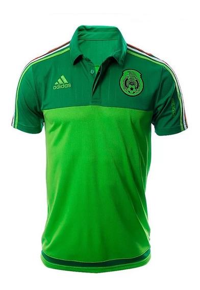 Polo adidas Fmf México Para Hombre Verde Original S13124
