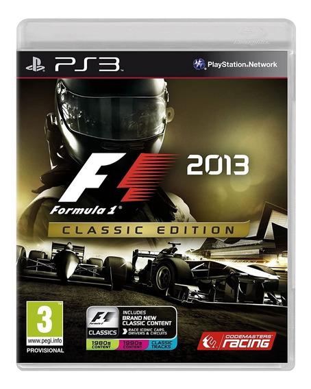 F1 2013 Edição Clássica - Ps3 - Mídia Física