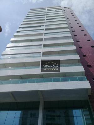 Apartamento Com 3 Dormitórios À Venda, 108 M² Por R$ 550.000 - Campo Da Aviação - Praia Grande/sp - Ap2938