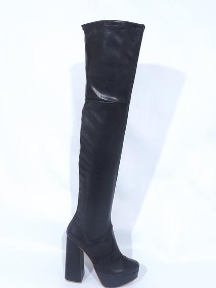 Botas Bucaneras Mujer Alta Taco Alto Invierno Comodas D5019