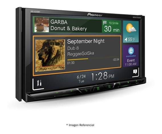 Radio Pioneer Avh-a5150bt Dvd 7 2din Bt+cd+usb