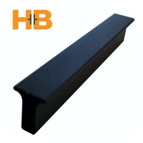 Imagen 1 de 5 de Manija Tirador Aluminio 64 Mm Mueble Cajón Negra.