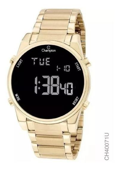 Relógio Champion Feminino Digital Dourado Ch40071u + Brinde