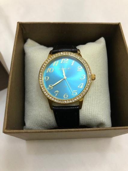Relógio De Pulso Lince 4234l Dourado E Azul Feminino
