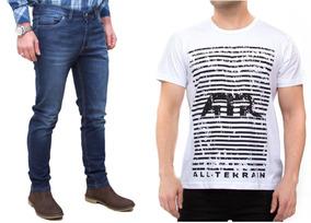 Kit Calça Escura Jeans Camisa Branca All Terrain Atr