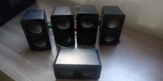 Kit 05 Caixas Som Home Theater Philips Hts3541 Hts3531